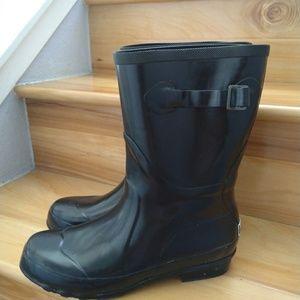LL Bean black rainboots size 10